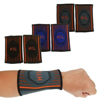 2Pc Compression Breathable Wrist Sweat Band for Sports Basketball Tennis Workout