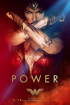 WONDER WOMAN  _POWER_11x17 mini movie poster _COMIC CON Style collectible