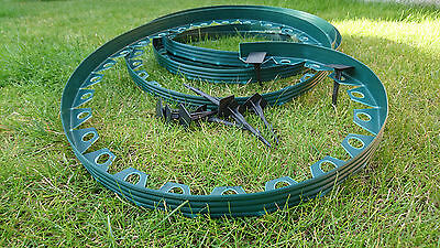 Plastic garden edging,New green edging 10meters for borders,paths,lawn+30 pegs