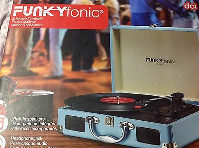 Funkyfonic Blue  Briefcase Turntable *NEW*