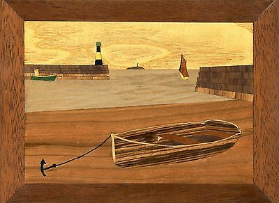 Traditional Marquetry Craft Kit: Waiting For The Tide. From The Cove Workshop