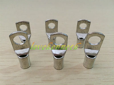 10/20/50pc SC16 16mm² 6/8/10mm Tinned Copper Brass Cable lugs Terminal Connector
