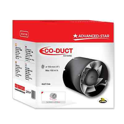 Advanced Star Eco Duct Fan 4 (100mm) Inch Intake / Extraction Hydroponics