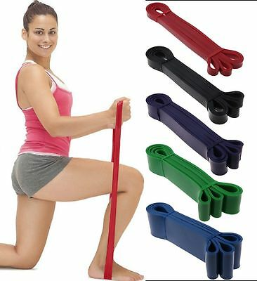 Heavy Duty Resistance Band Loop Power Gym Fitness Exercise Yoga Pilates-5Sizes