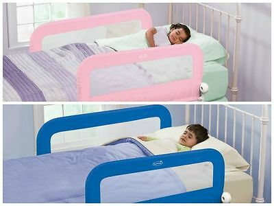 Summer Infant Grow with Me Bed Rail Guard Bedrail Single Double Pink Blue Grey