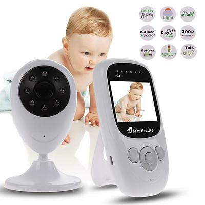 Wireless 2.4GHz Digital Color LCD Baby Monitor Camera Night Vision Audio Video