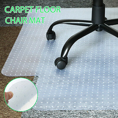 New Carpet Floor Office Computer Work Chair Mat PVC 1200 x 900mm in White