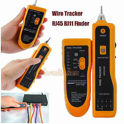 RJ45/11 Telephone Lan Network Tester Tracker Cable Wire Finder Tracer AU STOCK