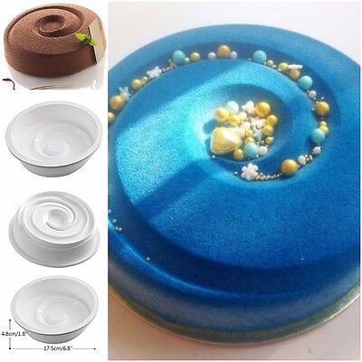 1PCS Silicone Round VORTEX Spiral Mold For Cake Decorating Pans Baking Usa Molds