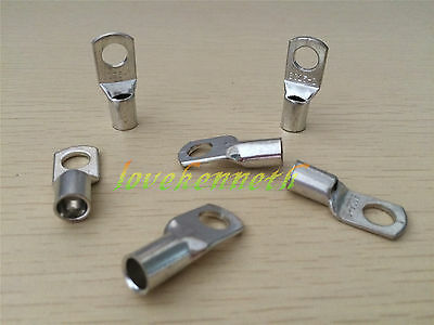 10/50pc SC25 25mm² 6/8/10/12mm Tinned Copper Brass Cable lugs Terminal Connector