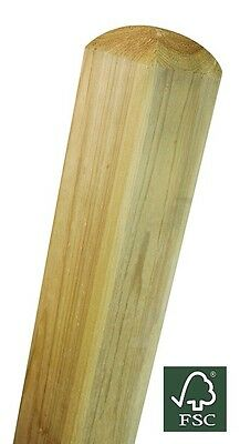 Elite Smooth Planed Treated Timber Wooden Gate Fence Post 70mm x 70mm 2.4m (8ft)