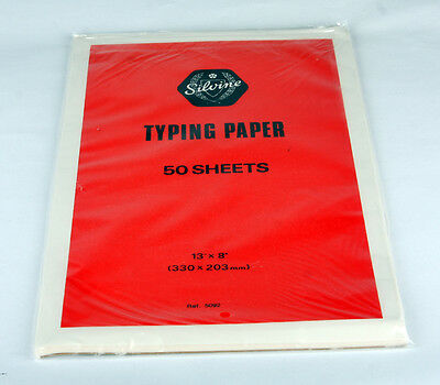 Vintage Silvine Typing Paper Foolscap 50 Sheets