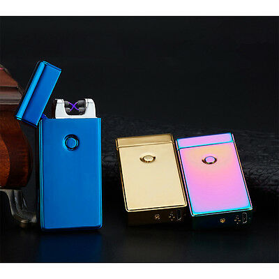 Electric USB Rechargeable Flameless Tesla Coil Cigarette Dual Lighter Play Funny