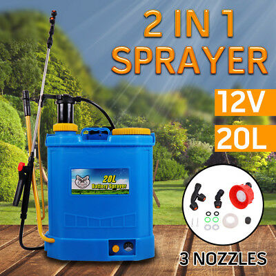 WACWAGNER 20L 2 In 1 Electric knapsack Sprayer Weed Farm Garden Pump Chemical