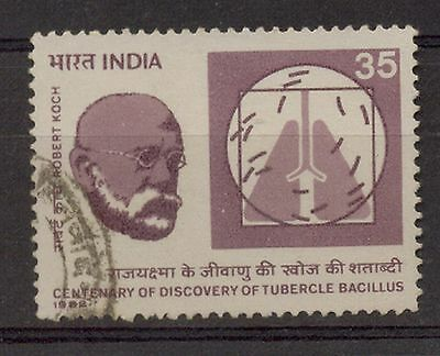 INDIA 1982 35p ROBERT KOCH DISEASE DISCOVERY USED STAMP COMMEMORATIVE