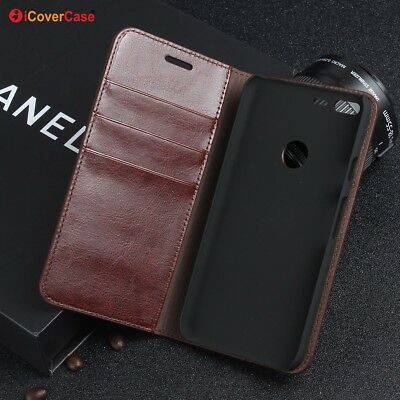 Luxury Genuine Leather Wallet Flip Case Stand Cover For Google Pixel XL