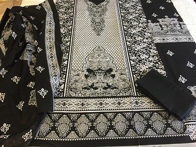 Pakistani Indian Cambric 100% Cotton UN-STITCHED SHALWAR KAMEEZ SUIT