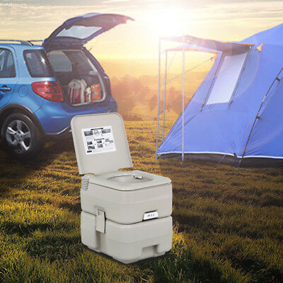 5 Gallon 20L Outdoor Portable Toilet Camping Potty Caravan Travel Camp Boating
