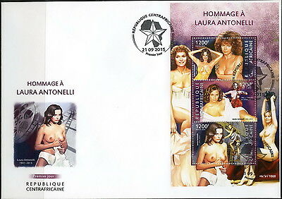 Z08 CA15324a CENTRAL AFRICA 2015 Laura Antonelli FDC First Day Cover ETB