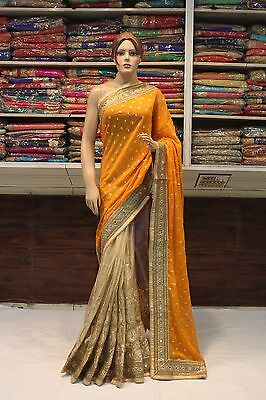 Indian Bollywood Ethnic Traditional Designer Woman Saree Sari Bridal Party Dress
