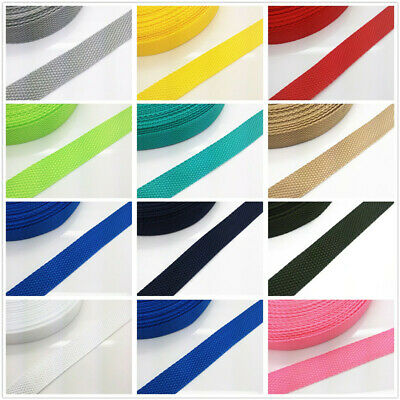 New 2/5/10/50 Yards Length 3/4 inch 20mm Wide Strap Nylon Webbing Strapping Pick