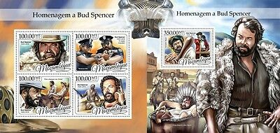 Z08 IMPERFORATED MOZ16403ab MOZAMBIQUE 2016 Bud Spencer MNH ** Postfrisch Set