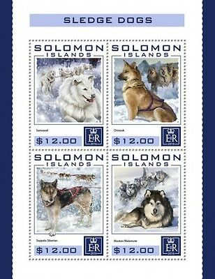 Z08 IMPERFORATED SLM16404a SOLOMON ISLANDS 2016 Sledge dogs MNH ** Postfrisch
