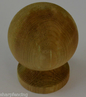 """Post Ball & Collar Finial 4"""" (100mm) with Post Finial Base & Screw"""
