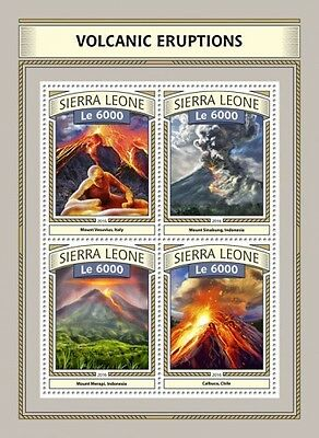 Z08 IMPERFORATED SRL161016a SIERRA LEONE 2016 Volcanic eruptions MNH ** Postfris