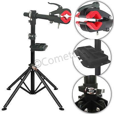 Pro Home Mechanic Folding Adjustable Bike Bicycle Repair Workstand Stand Rack