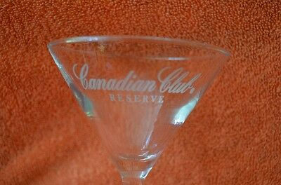 Pair Of Canadian Reserve Stemmed Martini Glasses