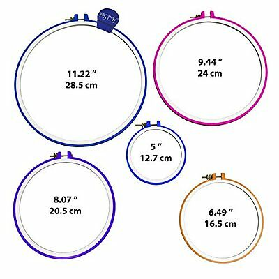 Plastic Embroidery Cross Stitch Hoop Ring - 5inch to 11inch