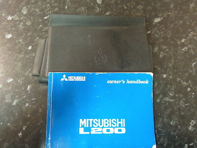 Mitsubishi L200 Owners Maual and Wallet 1998
