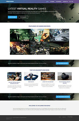 Virtual Reality Business Website For Sale - VR Headsets and Games