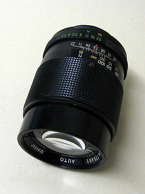 1:2.8 F=135mm analogue camera telephoto lens and case