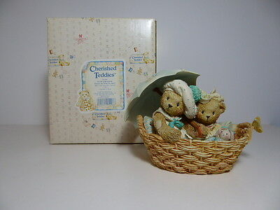 Cherished Teddies Beth & Blossom Friends Are Never Far Apart 950564 Enesco Boxed