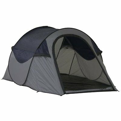 10T Outdoor Equipment, Tenda istantanea Duo Pop 2, Grigio (grau /blau), 2