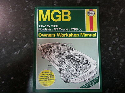 MGB Haynes Owners Workshop Manual 1962 - 1980