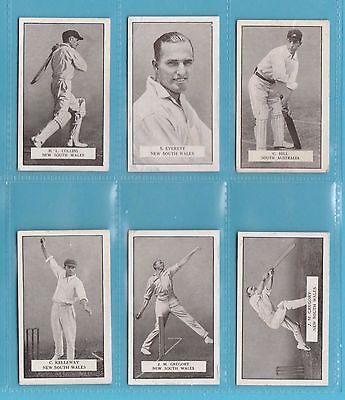 Cricket - Gallaher Ltd. - 6 Famous Cricketer Cards - N.s.w.  &  S. Aust. -  1926