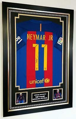 *** RARE NEYMAR of Signed Shirt Autograph Display***