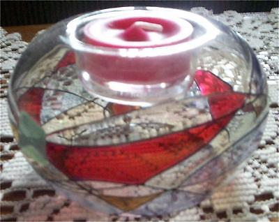 Partylite Rare ~MOSAIC BUBBLE TEALIGHT CANDLE HOLDER~ Retired #P7671 EUC