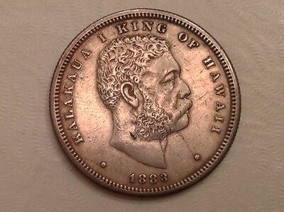 - 1883 Kingdom of Hawaii  1/2  One Half Dollar  Kalakaua I - Sharp XF - Sale!