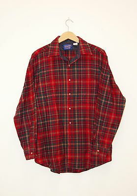 Vintage Pendleton Check Wool Shirt Large Excellent Condition