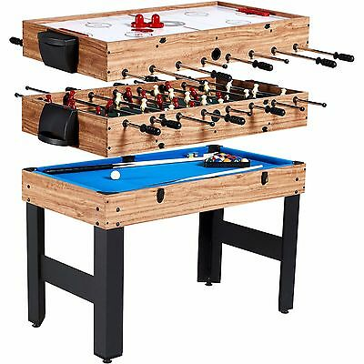 3-In-1 Multi-Game Combo Table Billiards Pool Air Hockey Soccer Kids Indoor Toy