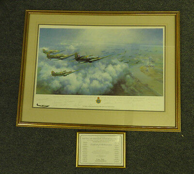 Frank Wootton 60th Print Inspiration 20 Signed By Pilots Battle Of Britain (4325