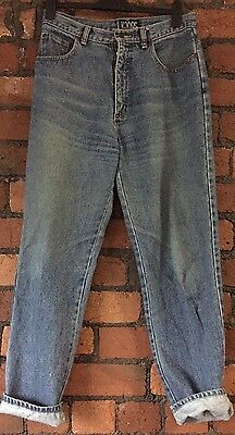 Vintage 90s IMAGE Denim High Waisted Straight Leg MOM style Jeans 14 UK 10/12
