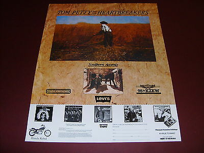 Tom Petty And The Heartbreakers Southern Accents Promo Poster 98 Kzew Zoo