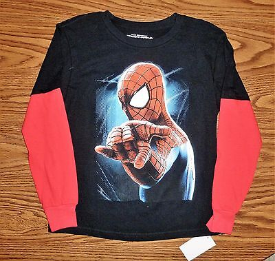 MARVEL Long Sleeve, Layered Look, THE AMAZING SPIDER-MAN 2 Polo NWT Size L (7)