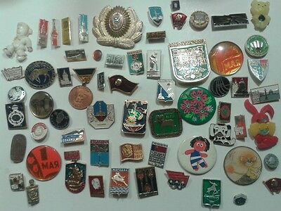 Lot 60+  Russian Soviet USSR different  badges .