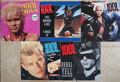 "BILLY IDOL 12"" VINYL SINGLE JOBLOT COLLECTION Rebel Yell Eyes Without A Face"